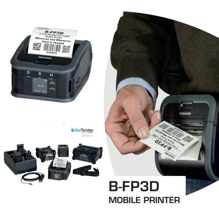Máy in mã vạch mini - cầm tay - di động B-FP3D