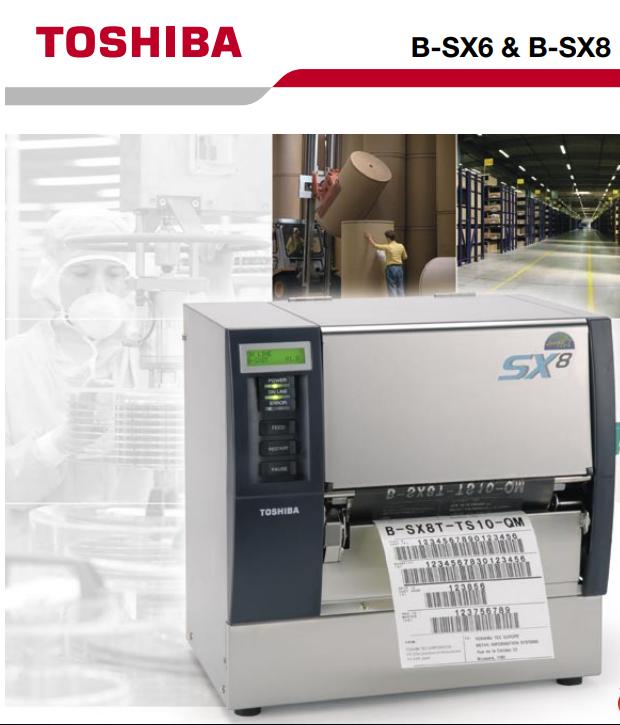 Máy in mã vạch, tem nhãn B-SX6T dành cho công nghiệp, sản xuất