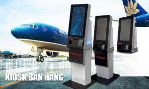 Kiosk POS tự động được sử dụng phổ biến ở ga hàng không