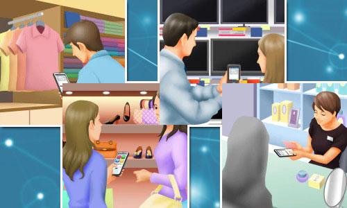 Ứng dụng của máy kiểm kho tư vấn khách hàng