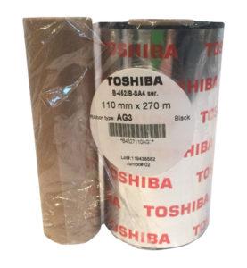 Mực in mã vạch (ribbon) Toshiba Wax/Resin Premium AG3