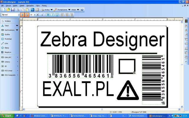 Phần mềm in mã vạch Zebra Designer