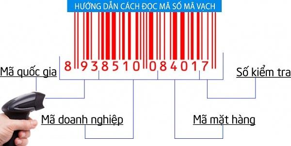 Cấu trúc mã vạch EAN-13 tại Việt Nam
