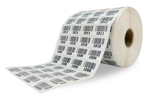 Cuộn giấy in với 4 tem 1 hàng