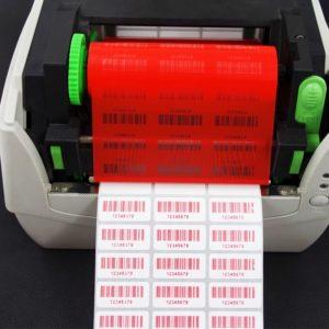 máy in mã vạch sử dụng ribbon đỏ