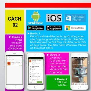 Hướng dẫn cài đặt app check mã vạch hàng gải hàng nhái trên IOS/Android: cách 2