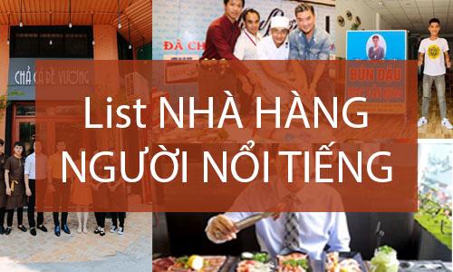 List nhà hàng người nổi tiếng